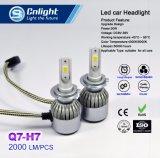 Bulbo de gran alcance barato del reemplazo de la linterna del coche de la MAZORCA 4300K/6000K LED de Cnlight Q7-H7