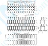 pH: kopbal van de Speld van de Schakelaar van de Rijen van de Huisvesting SMT van 1.27mm de Dubbele Dubbele