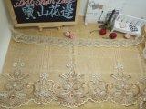 衣服及びホーム織物及びカーテン(BS1097)のための新しいデザイン卸売20cmの幅の金の糸の刺繍のオーガンザのレースの網のレース