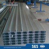 Purlins en acier galvanisés de section de C pour la structure métallique
