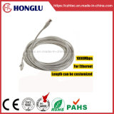 Comercio al por mayor alivio de tensión moldeado Snagless Cat5e STP Cable de red