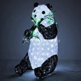 照明表示および休日の装飾のために防水パンダのグループ3Dのモチーフライト
