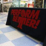 L'abitudine ha stampato 6 piedi della fiera commerciale della Tabella del panno di coperchio della Tabella per l'evento