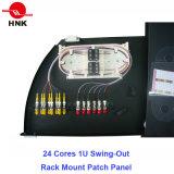 """24 코어 1u-19 """" Swing-out 선반 마운트 광섬유 패치 패널"""
