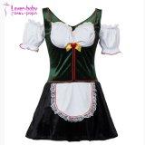 Девушки пива Oktoberfest платье L1214 новой женской зеленой /White причудливый