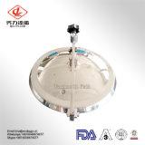 Pressão de aço inoxidável Stee ao redor da tampa de inspeção com visor de vidro