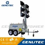 heller Aufsatz des Hochleistungsschlußteil-12kw mit 9m dem hydraulischen Mast