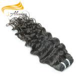 Дешевые индийского глубокую вьющихся волосах в полной мере Cuticle Реми волос