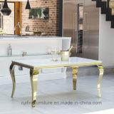 Самомоднейшая французская нержавеющая сталь обедая таблицы Луис супер белая стеклянная