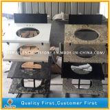 Parti superiori ornamentali prefabbricate Polished su ordinazione della cucina del granito di Giallo