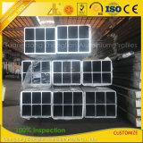 Aluminium extrudé industrielles de grande taille personnalisée profils carrés pour la fabrication de matériel