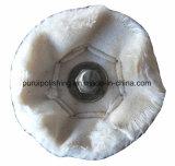 roda de lustro lustrando montada cálice do algodão de 60mm para o metal