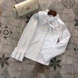 100% хлопок ткань Hand-Lobed Lotus Leaf моды кофта блуза