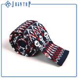 Estoque barato profissional gravatas feitas malha para homens na venda