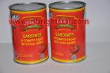 Заготовленных скумбрия в томатном соусе с молотым красным перцем 155g легко открыть