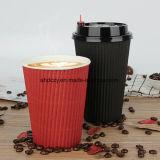 Tazza di caffè del documento di parete dell'ondulazione di vendita diretta 8oz della fabbrica per la bevanda calda