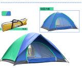 In het groot Dubbele Persoon 4 legt de Tent van het Strand