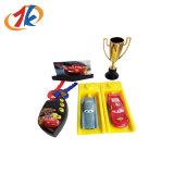 Het koele Stuk speelgoed van de Lanceerinrichting van de Raceauto van de Simulatie met MiniTrofeeën voor Jonge geitjes