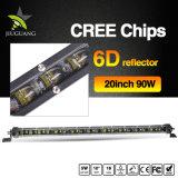 지프를 위한 20 인치 최고 밝은 호리호리한 LED 표시등 막대를 유숙하는 도매 4X4 트럭 알루미늄 합금