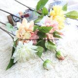 Seda gigante Dahlia Convénio Flores de Seda Artificial Coral Dahlia Flower Fornecedores