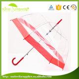 Parapluies transparents droits de pluie promotionnelle ouverte automatique de Sun