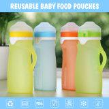 bottiglia di alimentazione ecologica del bambino del silicone del commestibile di colori 250ml quattro
