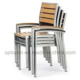 プラスチック木製の椅子のスタック可能屋外アルミニウム椅子(SP-OC721)
