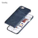 Apple iPhone 8을%s 호리호리한 PU 가죽 지갑 신용 카드 홀더 뒤 전화 덮개 케이스 피부