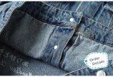 Gli ordini dell'europeo per il rivestimento 100% del denim del ricamo del poliestere dei jeans di modo