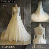 ガーゼ材料およびOEMサービス供給のタイプ贅沢なウェディングドレス