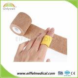 Sans latex souple cohésive Bandage élastique non tissé de sport