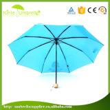 Parapluie 3-Section se pliant ouvert de manuel de qualité