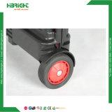 車輪が付いているプラスチック折る買物車の携帯用トロリーカート
