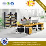 Meubles de bureau en verre en aluminium de poste de travail de personnel de boîtier de cloison de séparation (HX-D9050)