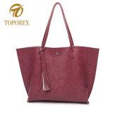 Het toevallige Af:drukken van de Luipaard Dame Shoulder Handbag Leather Tote Zak