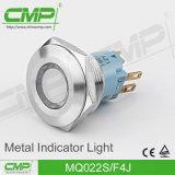 luz de indicador de la terminal de tornillo del acero inoxidable de 22m m