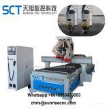 La parte superior Venta 1325 Múltiples cabezales Atc Wood Router CNC Machines