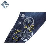 100%хлопок мода джинсы/ Мешковатых брюки с печатью и Sequin вышивка