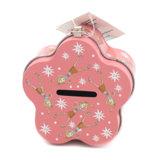 زهرة شكل عملة قصدير صندوق مع تعقّب هويس
