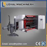PP papel estucado de la máquina de corte de alta velocidad con carga Shaftless