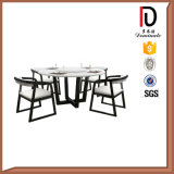 Vector de cena redondo moderno simple de mármol europeo de madera sólida