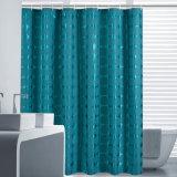 Tejido de poliéster 100% resistente al agua cortina de baño con ducha (18S0061)