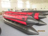 Liya 2mから6.5m小型膨脹可能なPVC携帯用ボート(UB200-UB650)