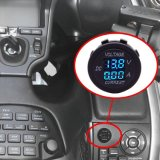 Тестер цифрового вольтамперомметра в настоящее время & тестер напряжения тока для панели туриста СИД автомобиля тележки ATV UTV мотоцикла корабля шлюпки морской круглой