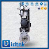 Didtek DN25 a 10K Wcb V tipo válvula de bola con Pneumatic