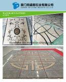 지면 도와를 위한 대중적인 돌 대리석 물 분출 큰 메달 또는 대리석 Waterjet 또는 대리석 패턴