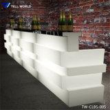 Fabricación de acrílico puro jugo de color blanco comercial Barra Barra diseño