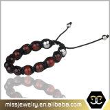 De rode Armband van de Parel van de Steen van het Oog van de Tijger, de Armband Mjb008 van de Kabel van Mensen