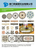 Natté de pierre/Mosaïque Mosaïque, Pattern Border/Médaillon des tuiles de plancher/Natté avec incrustation en métal (BW001)