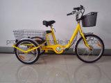 Tres ruedas bicicleta eléctrica con carga trasera